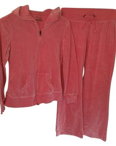 Tek Gear Tek Gear pink track suit-fit & flare pants and full zip hoodie-cotton blend