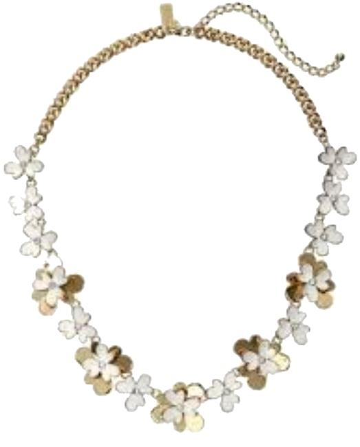 Kate Spade 12k Gold & Cubic Zirconia & White Enamel Accents Modern Sweet Style Pansy Blossom Not Available In Stores Necklace Kate Spade 12k Gold & Cubic Zirconia & White Enamel Accents Modern Sweet Style Pansy Blossom Not Available In Stores Necklace Image 1