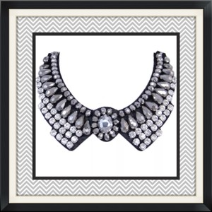 New Crystal Bling Bib Choker/necklace