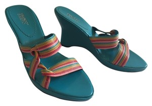 Franco Sarto Rainbow Strappy Multi Wedges