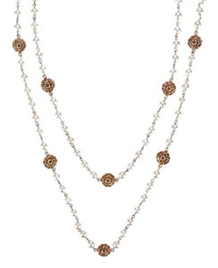 Chanel Chanel Vintage Pearl Flower Sautoir Necklace