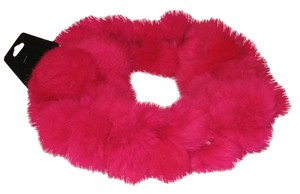 FASHION FAUX FUR SCARF HOT PINK
