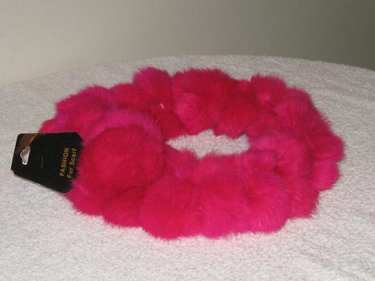 Other FASHION FAUX FUR SCARF HOT PINK