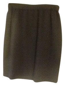St. John Wool Knit Skirt Black