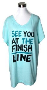 Tek Gear Plus Size Womens Workout Exercise V Neck Top Graphic T Shirt Finish Line 2X