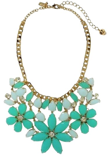 Preload https://img-static.tradesy.com/item/9168232/kate-spade-bluish-greens-elaborate-floral-bib-dangling-from-an-oversized-cable-chain-of-paris-statem-0-2-540-540.jpg