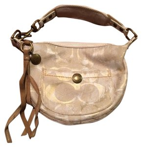Coach Gold Shoulder Bag