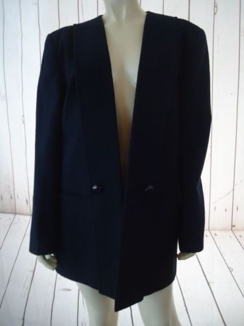 Preload https://img-static.tradesy.com/item/9168763/charles-klein-blazer-navy-blue-wool-open-flange-front-lined-pockets-chic-0-0-650-650.jpg