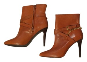 Lauren Ralph Lauren Heels Leather Gold Brown Boots