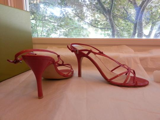 Nine West Strappy Patent Leather Pink Sandals