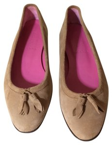 J.Crew Suede Taupe Classic Ballet camel Flats