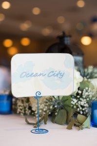 Blue Table/place Card Holder