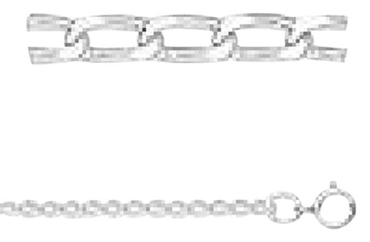 9.2.5 .925 Genuine Diamond Cut Long Curb Sterling Silver 1.7mm Chain Necklace 18