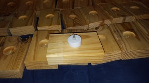 Wood Tealight Boxes