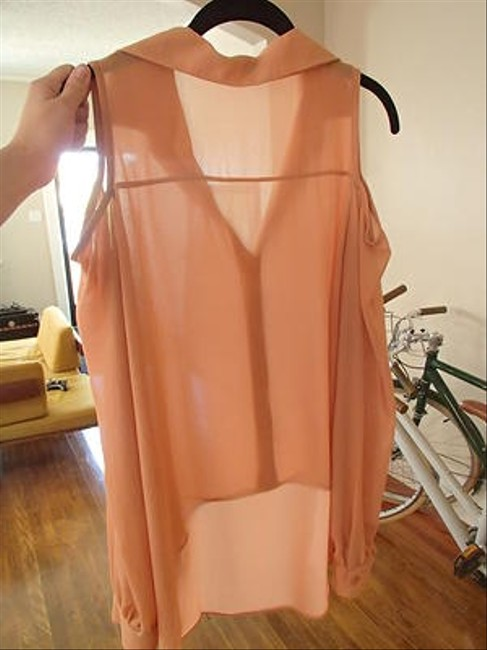 Jeanette Fashion Top Peach Shimmer