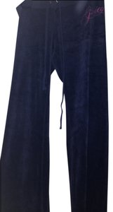 Juicy Couture Velour Track Size M Athletic Pants navy