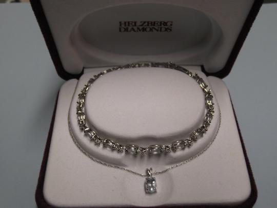 Helzberg Diamonds Helzberg Diamonds 10k Aquamarine Bracelet and Necklace