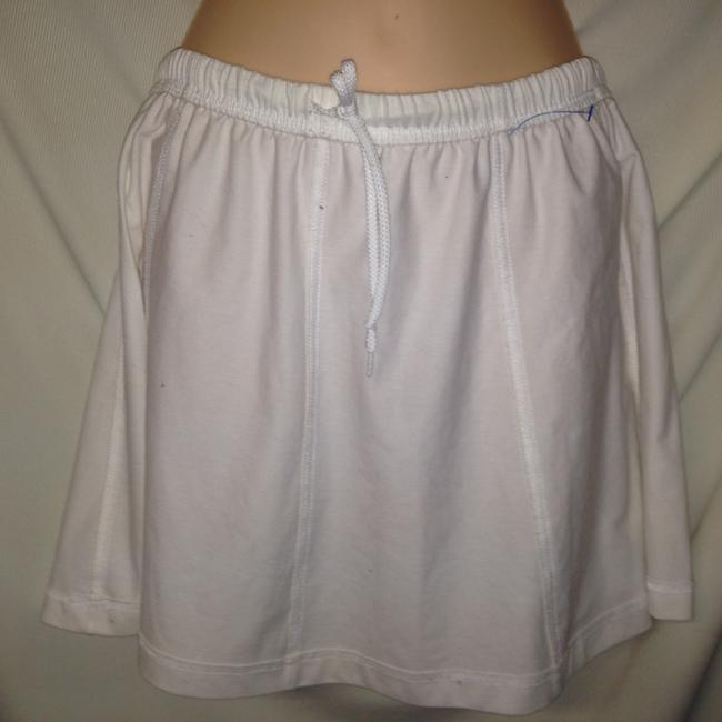Nike Cute White Cotton (Tennis) Summer Size L Mint Mini Skirt