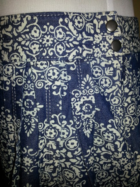 Ann Taylor LOFT Skirt blue & white