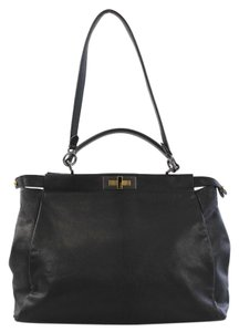 Fendi Top Handle Satchel in Black