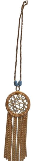 Preload https://img-static.tradesy.com/item/9179296/express-gold-turquoise-dreamcatcher-with-necklace-0-3-540-540.jpg