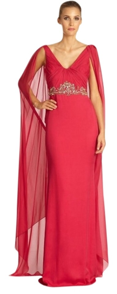 c37c8a53914 Marchesa Notte By Long Gown Prom Cape Overlay Drape Chiffon Wedding Caftan  Dress Image 0 ...