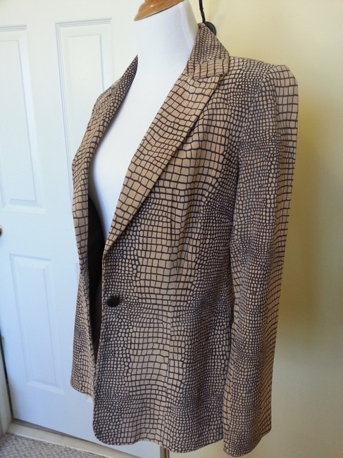 Cache Vintage Suede Natural and Grey Blazer