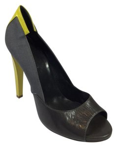 Balenciaga Gray/ Yellow Pumps