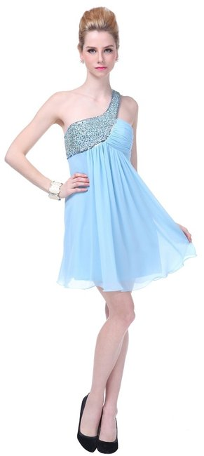 Preload https://img-static.tradesy.com/item/918159/blue-dazzling-beaded-sequins-one-shoulder-open-back-above-knee-night-out-dress-size-10-m-0-0-650-650.jpg