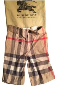 Burberry Cut Off Shorts Boys youth size 8 Beige / Black