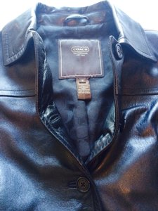 Coach Leather Leather Coat