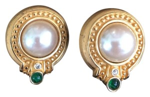 AFJ Etruscan Style Pearl Earrings