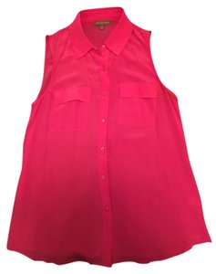 Tinley Road Silk Button Downs Top Pink
