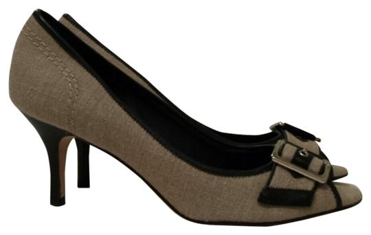 Banana Republic Beige and Black Pumps