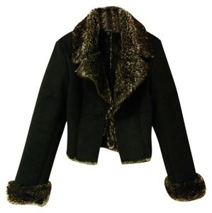Express Suede Fur Evening Jacket Fur Coat
