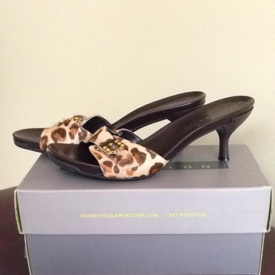 Kenneth Cole Reaction Mule Animal Print Sandals