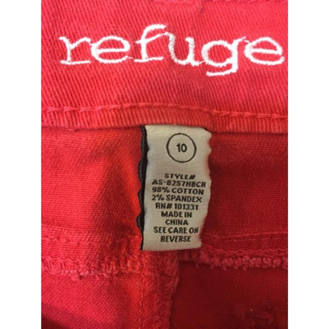 Refuge Jeans Cut Off Shorts Red