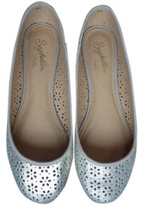 Seychelles Gold Brushed Gold Comfort Cushion Sole Lining Light Gold Flats