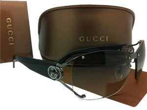 Gucci New GUCCI Sunglasses GG 2820/F/S KJ1ZR Ruthenium Frame w/ Crystals & Grey Gradient Lenses