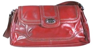 Liz & Co. burgundy Clutch