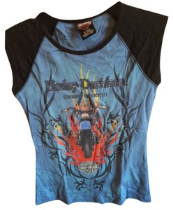 Harley Davidson T Shirt Black, blue, multi