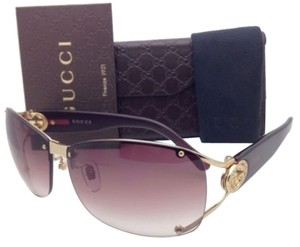 Gucci New GUCCI Sunglasses GG 2820/F/S J5GYT Shiny Gold Frame w/ Brown-Violet Gradient Lenses