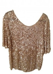 Zara Top sparkle gold
