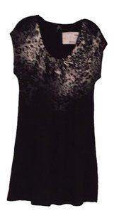 Style & Co short dress Black/Animal Print on Tradesy