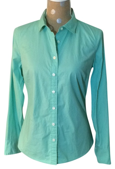 Preload https://img-static.tradesy.com/item/9189652/jcrew-mint-green-haberdashery-blouse-button-down-top-size-4-s-0-2-650-650.jpg