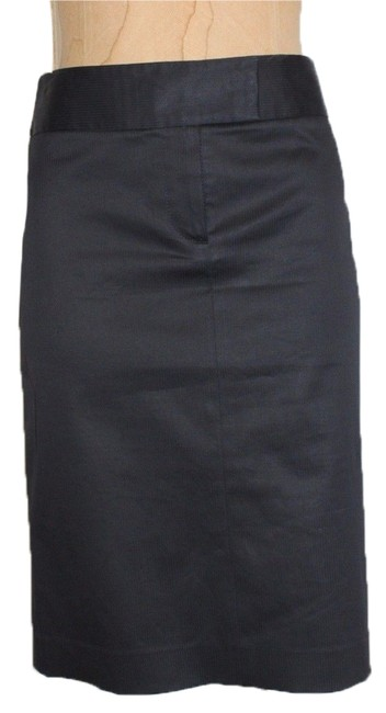 Theory Pinstripe Wool Striped Pencil Skirt BLUE