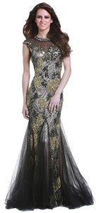 Feriani couture Black Sequance Gown Evening Black Size 10 Dress