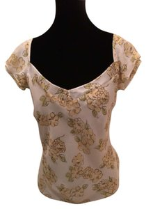 Ann Taylor LOFT Top Off White multi