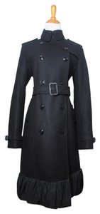 Burberry Trench Wool Cashmere Winter Pea Coat
