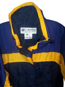 Columbia Sportswear Company Blue and Gold Jacket